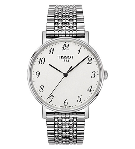 TISSOT T109.410.11.032.00 Everytime stainless steel watch