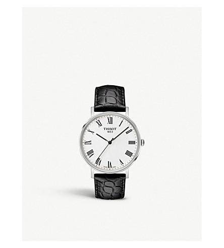 TISSOT 每次不锈钢皮表带腕表