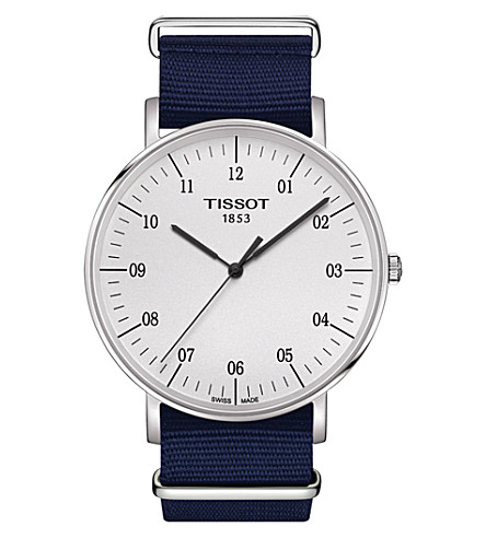 TISSOT T109.610.17.037.00 Everytime stainless steel and fabric watch