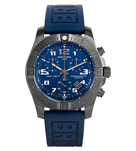 BREITLING v7333010.c939.157s Chronospace Evo Night Mission titanium quartz movement rubber strap watch