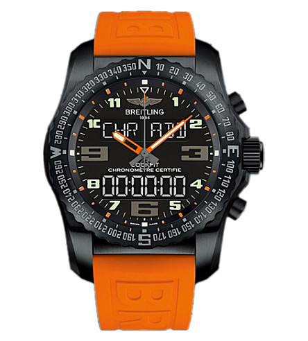 BREITLING VB5010A5BD41241S cockpit 850 automatic titanium and rubber strap watch