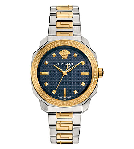 VERSACE VQD140016 dylos two tone watch (Blue
