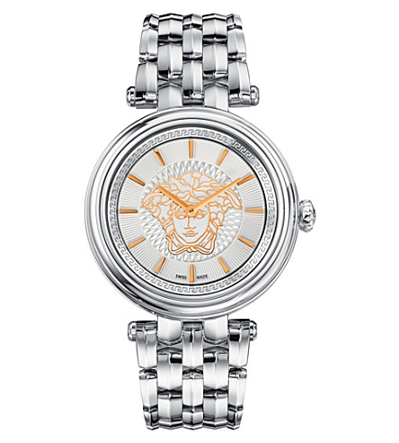 VERSACE VQE110016 khai stainless steel watch (Silver