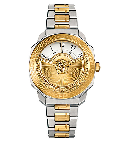 VERSACE VQDU040015 dylos two tone watch (White