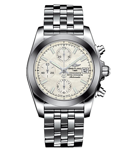 BREITLING W1331012/A774/385A Chronomat mother-of-pearl and steel watch