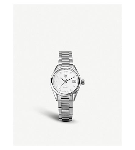 TAG HEUER WAR2414.ba0770 卡雷拉不锈钢和珍珠母手表