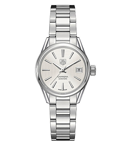 TAG HEUER War2416.ba0770 Carrera Caliber stainless steel and mother-of-pearl watch