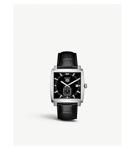 TAG HEUER WAW131A。FC6177 摩纳哥石英不锈钢鳄鱼表带手表