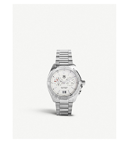 TAG HEUER Way111y.ba0910 Aquaracer Alarm stainless steel watch