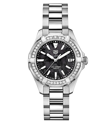 TAG HEUER WAY131P.BA0748 Aquaracer stainless steel and diamond watch
