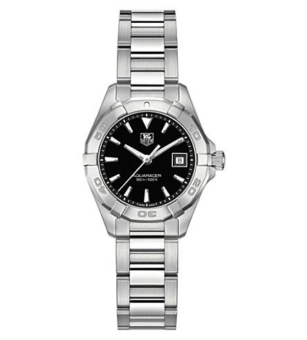 TAG HEUER Way1410 ba0920 潜不锈钢和皮革手表 (黑色
