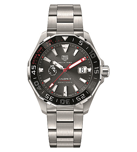 TAG HEUER WAY201D.BA0927 Premier League Aquaracer stainless steel watch