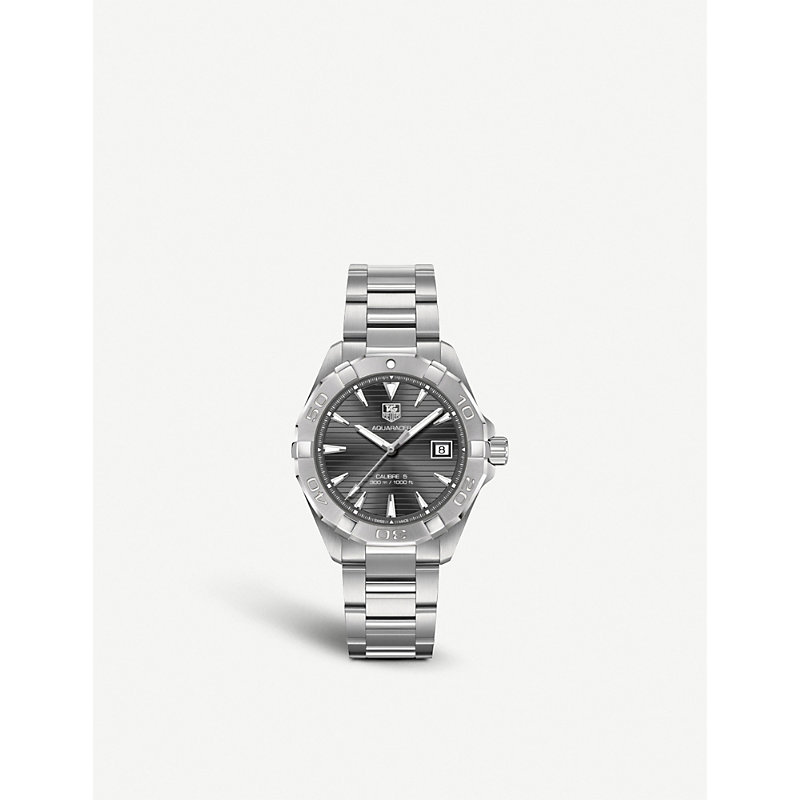TAG HEUER | Tag Heuer Way2113.Ba0910 Aquaracer Calibre Stainless Steel Watch, Women'S, Stainless Steel | Goxip