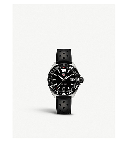 TAG HEUER Waz1110.ft8023 Formula 1 polished steel watch (Black