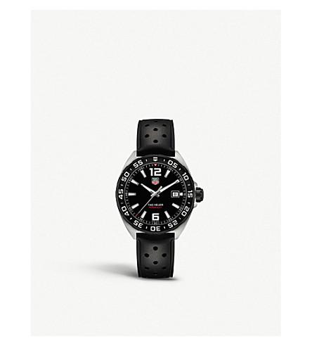 TAG HEUER Waz1110. ft8023 配方1抛光钢腕表 (黑色