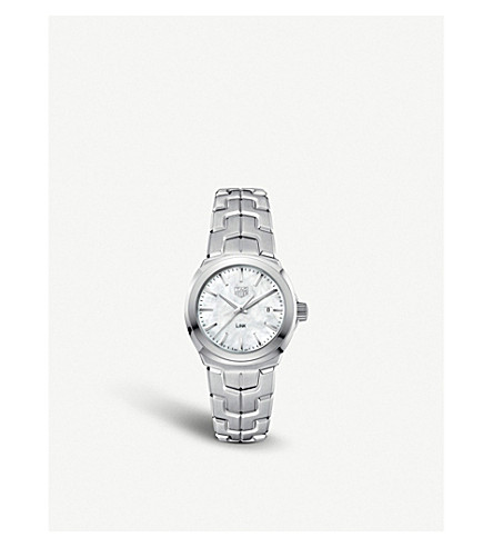 TAG HEUER WBC1310.BA0600 mother-of-pearl and stainless steel watches