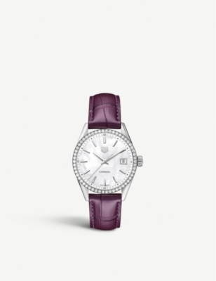 WBK1316.FC8261 Carrera diamonds, mother-of-pearl and stainless steel watch(7927536)