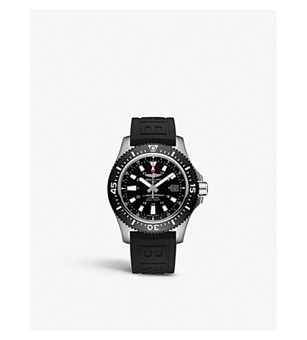 BREITLING Superocean 44 Special black steel watch