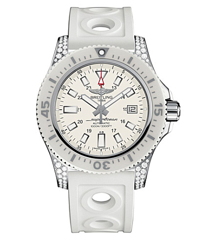 BREITLING Y1739367A807297S Automatic Hurricane White markers stainless steel watch