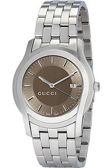 GUCCI YA055215 G-Class extra-large brown bracelet watch