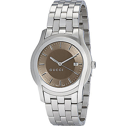 GUCCI YA055215 G-Class extra-large brown bracelet watch (Steel