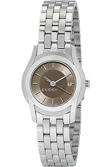 GUCCI YA055524 G-Class small brown bracelet watch
