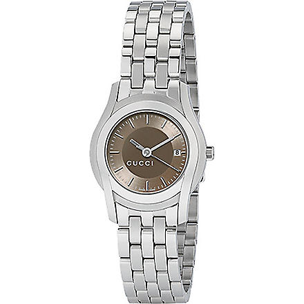 GUCCI YA055524 G-Class small brown bracelet watch (Steel