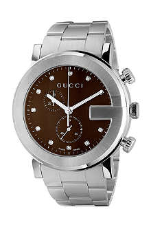 GUCCI YA101350 G-Chrono brown quartz watch