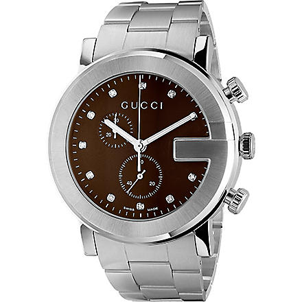 GUCCI YA101350 G-Chrono brown quartz watch (Steel