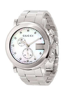 GUCCI YA101351 G-Chrono white mother-of-pearl quartz watch