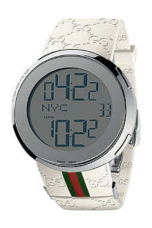 GUCCI YA114214 I-Gucci white digital watch