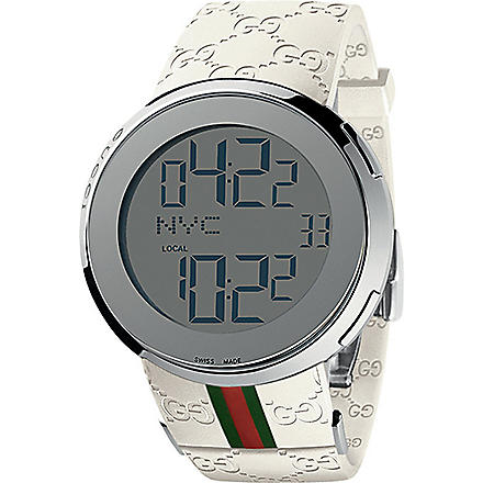 GUCCI YA114214 I-Gucci white digital watch (Steel