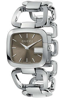 GUCCI YA125402 G-Gucci medium brown watch