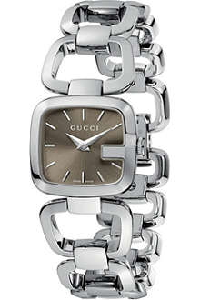 GUCCI YA125507 G-Gucci Collection polished steel watch