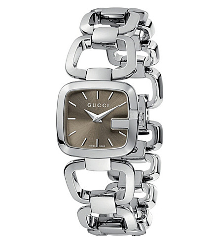 GUCCI YA125507 G-Gucci Collection polished steel watch (Steel