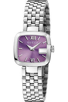 GUCCI YA125518 G-Gucci small purple quartz watch