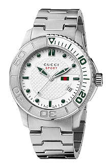 GUCCI YA126232 G-Timeless white quartz watch