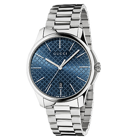 GUCCI YA126316 G-timeless slim collection stainless steel watch