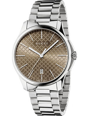 GUCCI Ya126317 G-timeless slim collection stainless steel watch