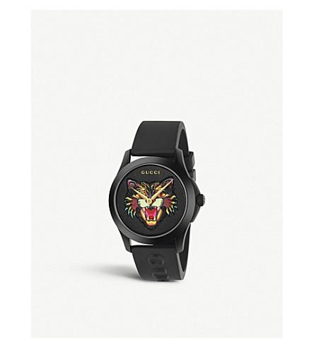 GUCCI YA1264021 G-永恒的不锈钢和橡胶手表