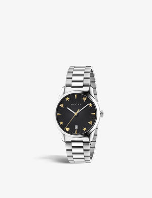 22905e69610 GUCCI - YA136309 Dive stainless steel and rubber watch
