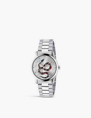 30b9fd37015 GUCCI YA1264076 G-Timeless stainless steel bracelet watch