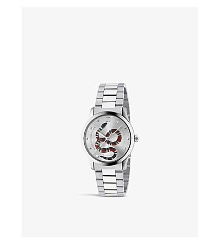 GUCCI YA1264076 G-Timeless stainless steel bracelet watch