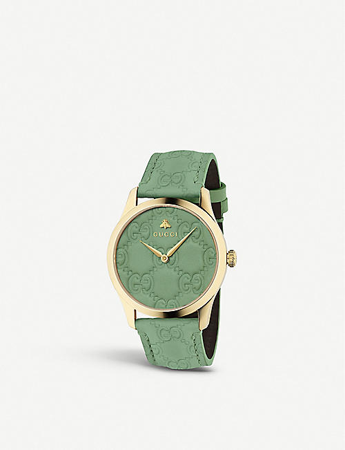 f7f725c40b6 GUCCI YA1264099 G-Timeless yellow-gold PVD watch