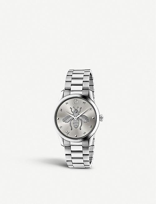 GUCCI YA1264126 G-Timeless strainless steel watch