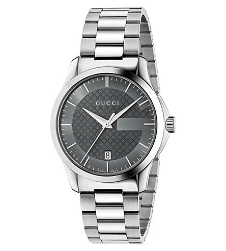 GUCCI YA126441 G-Timeless stainless steel watch (Anthracite