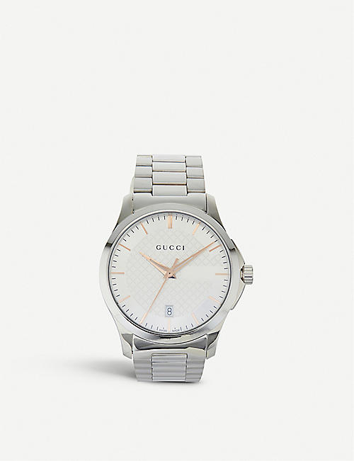 GUCCI YA126442 G-Timeless stainless steel watch