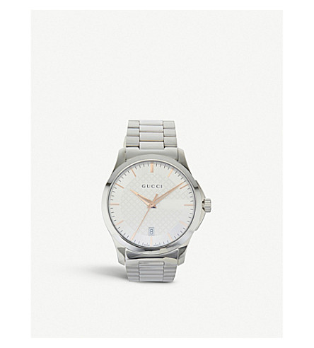 GUCCI YA126442 G-Timeless stainless steel watch (Silver