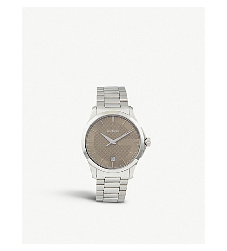 GUCCI YA126445 G-Timeless stainless steel watch