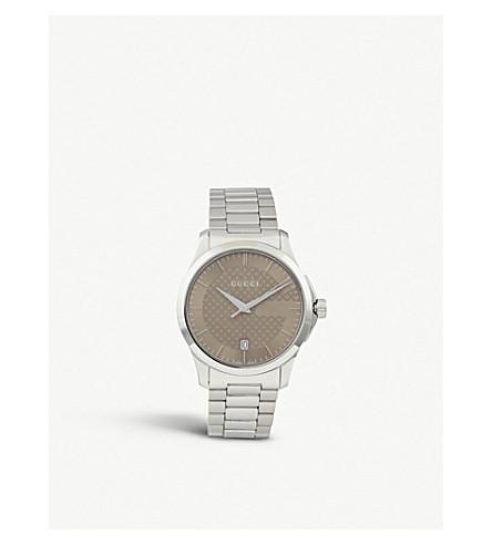GUCCI YA126445 G-永恒的不锈钢腕表